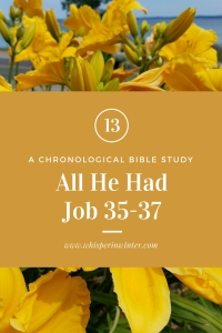 Link to a Bible Study Blog Post #13 - All He Had