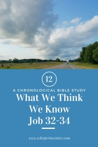 Link to a Bible Study Blog Post #12 - What We Think We Know