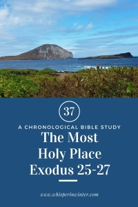 Link to a Bible Study Blog Post #37 - The Most Holy Place