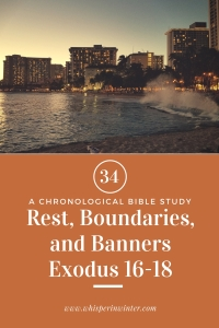 Link to a Bible Study Blog Post #34 - Rest, Boundaries, and Banners