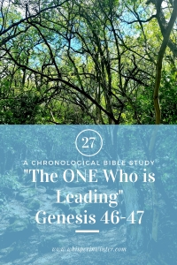 "Link to a Bible Study Blog Post #27 - ""The ONE Who is Leading"""
