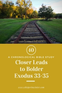 Link to a Bible Study Blog Post #40 - Closer Leads to Bolder