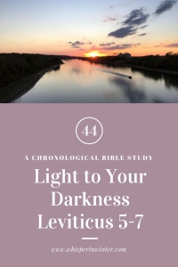 Link to a Bible Study Blog Post #44 - Light to Your Darkness